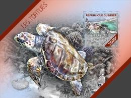 nig14222b Niger 2014 Turtle s/s Fish