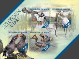 nig14224a Niger 2014 Water Birds s/s Crane Snake