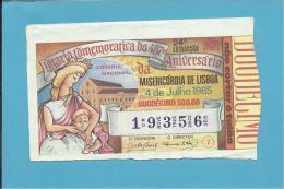 LOTARIA NACIONAL - 24.ª ESP. - 04.07.1985 - MISERICÓRDIA DE LISBOA - Portugal - 2 Scans E Description - Billets De Loterie