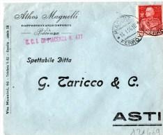 BUSTA POSTALE-PUBBLICITARIA-PIA CENZA-DITTA ATHOS MAGNELLI-15-1-1926-REGNO CENT. 69 DEL PARMEGGIANI