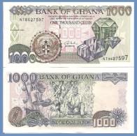 Ghana P32d, 1000 Cedi, Gem Stones / Cocoa Harvest, UNC 2003 $4+CV! See UV Image - Ghana