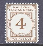 Malayan  Postal  Union  J 30   Perf  12  **  1965 Issue  Wmk. 314 - Malayan Postal Union