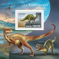 tg14408b Togo 2014 Dinosaurs s/s
