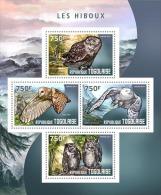tg14409a Togo 2014 Birds Owl s/s