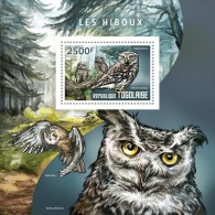 tg14409b Togo 2014 Birds Owl s/s