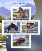tg14410a Togo 2014 Birds of Prey Eagle s/s