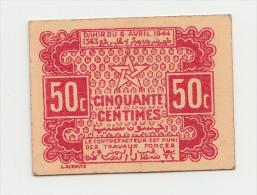 MOROCCO 50 CENTIMES 1944 XF+ P 41 - Morocco