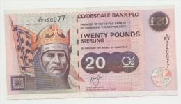 Scotland The Clydesdale Bank 20 Pounds 2003 P 228d  228 D - [ 3] Scotland