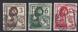 Germany  1937   Luftschutz  (o) Mi. 643-645 - Germany