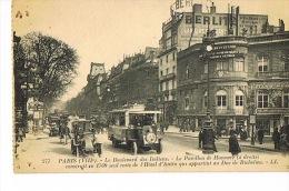 PARIS TRANSPORTS URBAINS SURFACE  AUTOBUS Bd Des Italiens VIII° Pavillon De Hanovre  Voyagée 1924 - Transport Urbain En Surface