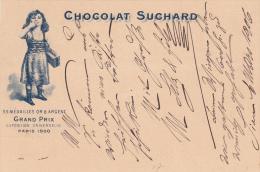 Entier Postal Des Chocolats Suchard, Oblitéré Sion Le 6.III.1906 à Destination De Viège - Entiers Postaux