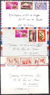 Lot De 3 Lettres  Du  TCHAD    Pour 22  DINAN     Annee 1969  MILITARIA  Avec 3 Timbres - Tsjaad (1960-...)
