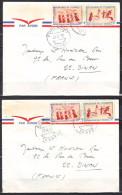 Lot De 2 Lettres  Du  TCHAD    Pour 22  DINAN     Annee 1970 MILITARIA  Avec   De 2 Timbres - Tsjaad (1960-...)