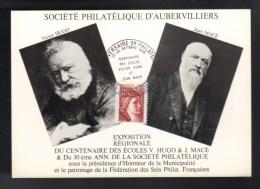FDC 1er Jour, Sté Philatélique Aubervilliers, écoles V. Hugo & J. Macé ,22/10/1978  J.F éditions - 1970-1979