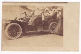 Carte Photo - Voiture Familiale - Double Phaéton Peugeot Type 68 De 1905 - Circulé 1906 - Voitures De Tourisme