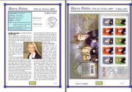 Planche Album Expo : France 2007 : BC4024a, Harry Potter Fête Du Timbre 2007 - Albums & Reliures
