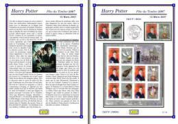 Planche Album Expo : France 2007 : 4024A & F4024A, Harry Potter Fête Du Timbre 2007 - Albums & Reliures