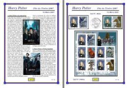 Planche Album Expo : France 2007 : 4026A & F4026A, Harry Potter Fête Du Timbre 2007 - Albums & Reliures