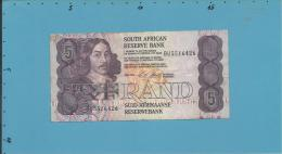 South Africa - 5 RAND - ( 1990 - 94 ) - Pick 119.e - Sign. 7 - Watermark: Jan Van Riebeek - 2 Scans - Zuid-Afrika