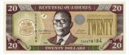 Liberia 20 Dollars 2008  Pick 28 UNC - Liberia