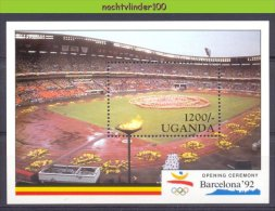 Mtd124 SPORT OLYMPISCHE SPELEN OLYMPIC GAMES STADION UGANDA 1991 PF/MNH - Zomer 1992: Barcelona