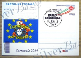 CARNEVALE TRIESTE--CAR TOLINA POSTALE CON SOPRASTAMPA PRIVATA-ANNULLO TRIESTE - Carnevale