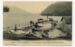 CP , 73 , AIX-les-BAINS , Le Lac Du Bourget, Débarcadère De Hautecombe - Aix Les Bains