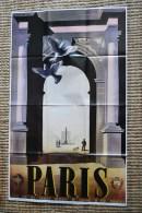 Affiche Cassandre Paris r�seaux chemins de fer FR 1976 Time Life Draeger imp.