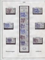COLLECTION FRANCE 1985/1999 + 900 TIMBRES ET 60 BLOCS & CARNETS DIFF. OBLIT. TTB �COTE TRES IMPORTANTE