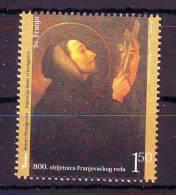 BiH Bosnia 2009 Y Franciscan Order 800th Ann MNH - Bosnie-Herzegovine