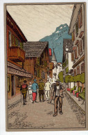 2.Engelberg : Dorfstrasse (litho) - Switzerland