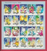 NEDERLAND, 2000, Mint Never Hinged, Stamp(s)sheet  . Christmas, NVPH Nr. 1931-1950, F2488 - Blocks & Sheetlets