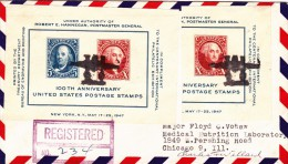 Letter From Mill Valley To Chicago Registered 1947 California Airport And Chicago - Vereinigte Staaten