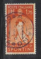 3RG809 - REGNO 1937 ,  1,75 Cent N. 433  . Illustri  Spontini - Gebraucht
