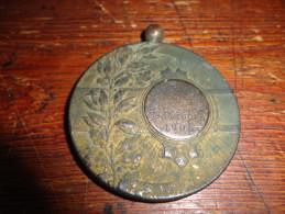 14N/1 - Médaille Face Femme En Toge Revers Villers Le Gambon 1906 (Philippeville) - Unclassified