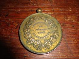 14N/1 - Médaille Face Femmes Anges Rucher Avec Abeilles Revers Union Ouvrière Corenne (Florennes) 1907 - Unclassified
