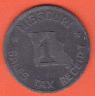 Missouri - Sales Tax Receipt - Token 1 - Etats-Unis