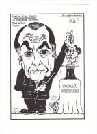 Illustrateur Lardie N°472 Mitterrand  Fabius - Lardie