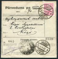 1929 Latvia Zehsis - Riga Parvedums Dienesta Atzimes - Latvia