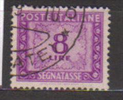 3016-Varietà Segnatasse L.8 Ruota DA - 6. 1946-.. Republic
