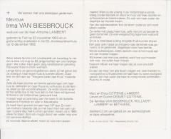 Irma Van Biesbrouck (1903-1992) - Imágenes Religiosas