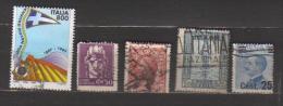 4893-Varietà Lotto Di Francobolli Con Dentellatura Spostata - 6. 1946-.. Republik