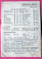 Carte Des Vins Du EIERSCHALE Breitenbachplatz à BERLIN 1966 - Factures