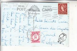 BELGIEN - Portomarke 33 Auf Ansichtskarte Aus England,  31.7.57 - Portomarken