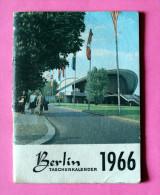 Calendrier Dépliant Sur 12 Pages De BERLIN 1966 - Calendriers