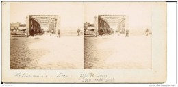 DIEPPE CARTE STEREOSCOPIQUE DOUBLE FACE COLLAGE DE 4 PHOTO MAISON NORMANDE PONT TOURNANT - Cartoline Stereoscopiche