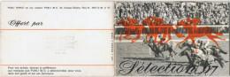 Carnet Calendrier 16 Pages 12 Cm X 8 Cm Tiercé  Sélection 1967 - Petit Format : 1961-70