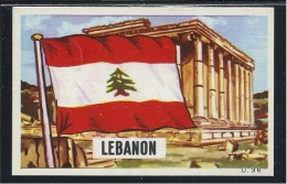 Liban Lebanon Chromo Drapeau Flag 70x45mm TB Jamais Collée - Unclassified