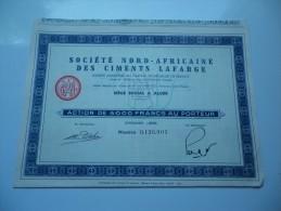 NORD AFRICAINE DES CIMENTS LAFARGE (5000 Francs) ALGERIE - Shareholdings