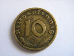 ALLEMAGNE - 10 REICHSPFENNIG 1937 D.